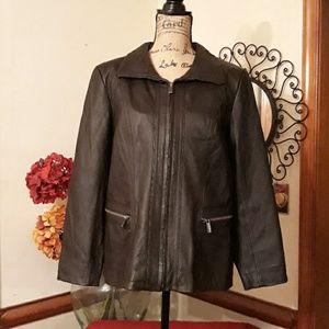 Genuine Leather Jacket Size Large